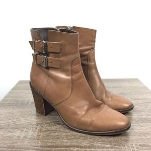 J.Crew Dean Ankle Buckle Boot Tan Leather Sz 9.5